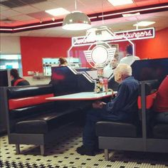 He went to Steak n Shake with his wife every year for valentine's day since before he was married. This was his first year without a valentine.    1 repin= 1 R.I.P/Respect