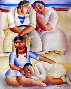 Família na praia, 1935 / Di Cavalcanti