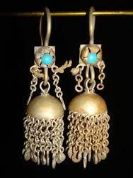 Image result for Boho Shimmy Afghan Kuchi Silver Tone Fringe Dangles Turquoise Glass Beads Necklace