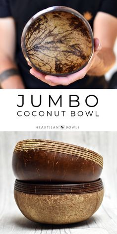 Bamboo Crafts, Wood Crafts, Diy And Crafts, Coconut Shell Crafts, Coconut Cups, Wooden Bowls, Tea Recipes, Design Crafts, Biodegradable Products