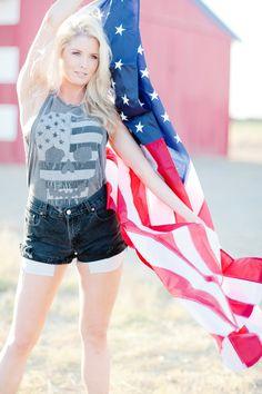 American Flag Fashion Shoot raquelleal.com