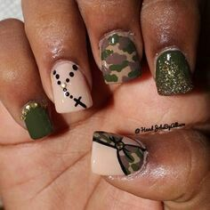 Nails for country girls! Military Nails, Army Nails, Marine Nails, Military Life, Love Nails, How To Do Nails, Pretty Nails, Chic Nails, Gorgeous Nails