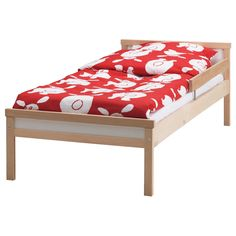SNIGLAR Bed frame with slatted bed base - IKEA  Someone is going to need a big girl bed soon...