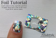 And woooh! Here is that nail foil tutorial I promised you all a while back! Check here for my entire mani and more details on where and ho. Foil Nail Designs, Creative Nail Designs, Creative Nails, Foil Nail Art, Foil Nails, Nail Art Diy, Foil Art, Sparkle Nails, Nail Manicure