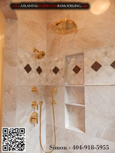 24K Gold Plated Shower Fixtures