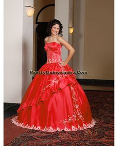 2010 Winter quinceanera dress,Fashionable Quinceanera Dress QD2009-13,discount designer quinceanera ball gowns,Pictured in strong fuscia color. Satin skirt and top. Ruffled edging on skirt accent this popular style dress. Back skirt gathering and lace up back on top.br / br /