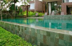 Perini Tiles- Swimming Pool look porcelain- Batu Backyard Pool Landscaping, Backyard Pool Designs, Pool Spa, Jacuzzi, Pool Cost, Mario, Pool Landscape Design, Concrete Pool, Cool Pools