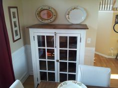"""Brag Post on Ana White - """"Patrick's Jelly Cabinet"""" - made with 2 old reclaimed windows (with original hardware!) as the doors. Furniture Plans, Furniture Making, Diy Furniture, Wedding Furniture, Furniture Makeover, Easy Wood Projects, Home Projects, Barn Windows, Woodworking Desk Plans"""