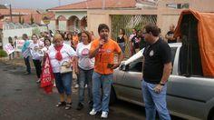 Ato público regional em frente do NRE de Jacarezinho, contra o não pagamento de avanços e promoções dos educadores do PR, em 2015.