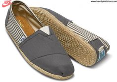 Cheap University Rope Sole Stripe Ash Mens Classics Toms Shoes Fashion Shoes Store