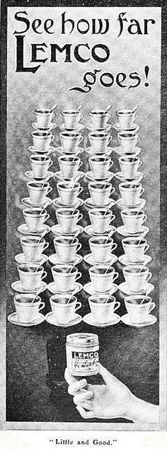 See how far Lemo (bouillon) goes! (1907) #Edwardian #vintage #food #ads