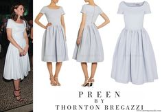 Kate Middleton wore Preen by Thornton Bregazzi Everly Stretch-Crepe Dress newmyroyals.com