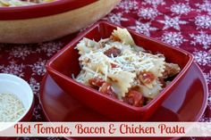 Mommy's Kitchen - Home Cooking & Family Friendly Recipes: Hot Tomato, Bacon & Chicken Pasta & {The Southern Bite Cookbook Review & Giveaway}