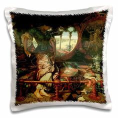 3dRose The Lady of Shalott by William Holman Hunt, Pillow Case, 16 by 16-inch
