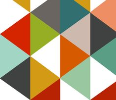 Unisex Kelsey Triangles Vertical fabric by natitys on Spoonflower - custom fabric