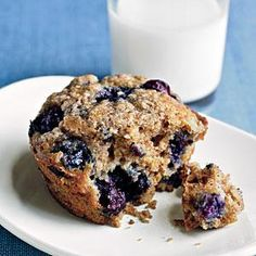 These Blueberry Oatmeal Muffins are the perfect thing for the kids! Tossing frozen blueberries with flour before adding them to the batter keeps them from turning the batter purple while they bake. If you use fresh blueberries, skip that step.