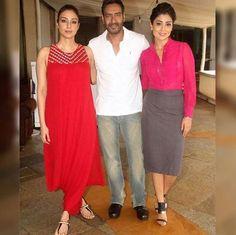 .@ajaydevgn #Tabu and @shriya1109 for the promotions of movie #Drishyam