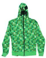 Minecraft Men's Creeper Premium Zip-Up Hoodie (Green, X-Small) Minecraft Outfits, Minecraft Clothes, Minecraft Party, Minecraft Ideas, Mens Creepers, Geek Shirts, Up Costumes, Big Boys, Have Time