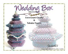 Beading Pattern, Advanced Tutorial,  Peyote Stitch Beaded Hexagonal Box Instructions WEDDING BOX