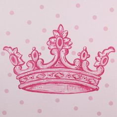 Pink Crown Imagination Square Room Décor | Carousel Designs