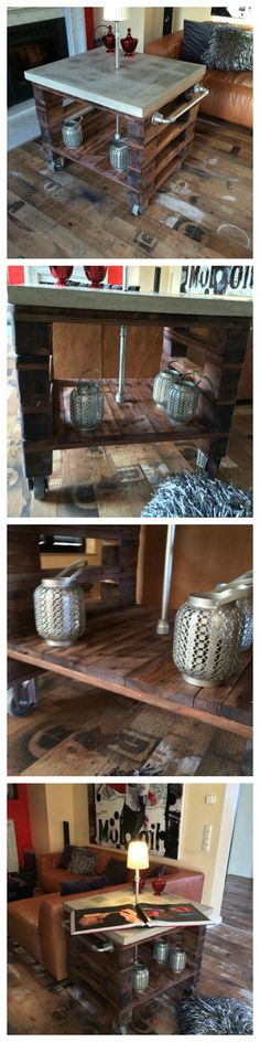 Handmade bar table / Pallets / Concrete / DIY / Upcycling