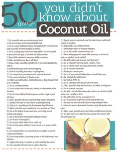 Coconut oil is a miracle to us all.