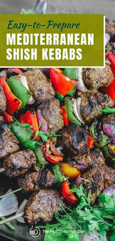 Everything you need to know to make the best shish kebab or steak kabobs! This easy recipe comes with the best marinade recipe...this makes and amazing dinner for family and friends this summer! #barbecue #partyfood #summerentertaining Shish Kabobs Marinade, Beef Shish Kabob, Beef Kabob Recipes, Steak Kabobs, Kebabs, Grilling Recipes, Easy Recipes, Beef Skewers, Summer Recipes