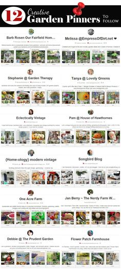 12 Creative Garden-Inspired Pinners To Follow On Pinterest