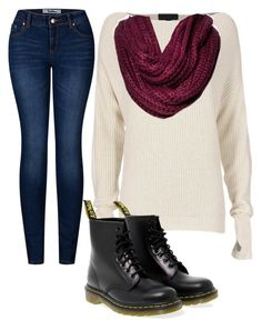 """Untitled #145"" by suri-rodriugez on Polyvore featuring Exclusive for Intermix, 2LUV, Dr. Martens and Merona"