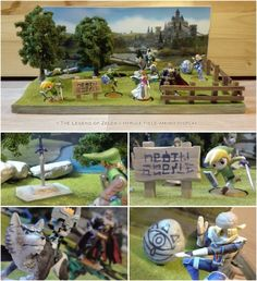 The Legend of Zelda amiibo display stand diorama by NBros on DeviantArt