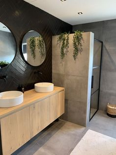 Beautiful bathrooms, with footed baths, cladded walls and colour that is muted - home decor inspiration. Bad Inspiration, Bathroom Inspiration, Modern Bathroom Design, Bathroom Interior Design, Bathroom Designs, Bathroom Renos, Small Bathroom, White Bathrooms, Bathroom Black
