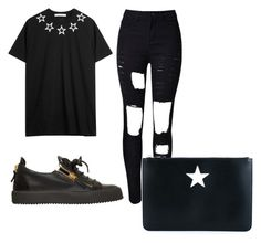 """All black everything ⚡️"" by beatriz-fernandes-4 on Polyvore featuring Givenchy, WithChic and Giuseppe Zanotti"