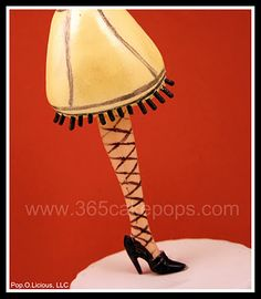 All of her cake pops are so cute! This one my mom would LOVE!! May have to go buy barbie legs asap!