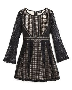 Bardot Junior Girls' Panelled Grid Dress - Sizes 8-16