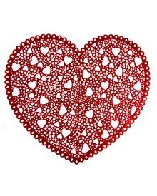 Valentine's Pressed Vinyl Heart Placemat, Main View