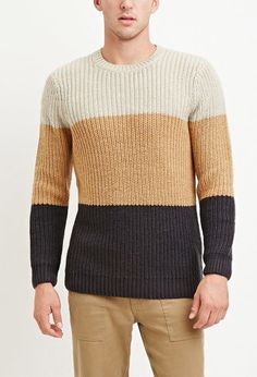 Colorblocked Wool-Blend Sweater | Forever 21 - 2000146321