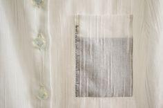 stitched graduation lines pocket detail by Minus Sun