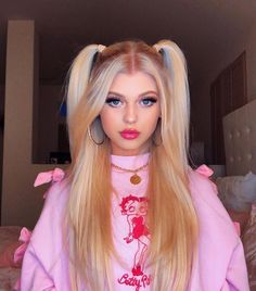 Loren gray - Make Up 2019 Pigtail Hairstyles, Pretty Hairstyles, Girl Hairstyles, Loren Grau, Hair Looks, Hair Inspiration, Curly Hair Styles, Wigs, Hair Makeup