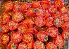 Roasted Tomatoes with Fresh Basil GF SCD