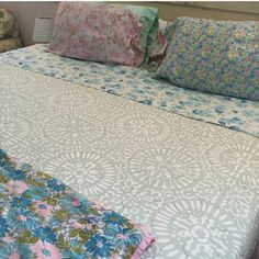 instagram pic from amazing vintage bedding