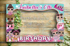Surprise  LOL Dolls Birthday Party  Photo Frame Prop PHOTO BOOTH  Party Deco Surprise gift with purchase by TurtleBiteInc on Etsy https://www.etsy.com/listing/584444839/surprise-lol-dolls-birthday-party-photo