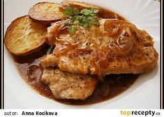 Vepřová kotleta na cibuli,aneb Curry, Food And Drink, Low Carb, Chicken, Ethnic Recipes, Desserts, Sauces, Fine Dining, Pigs