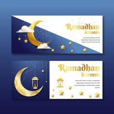 Templates Of Banner Ramadhan Kareem With Blue Background Signage Design, Banner Design, Graphic Design Templates, Creative Illustration, Background Templates, Banner Template, Wedding Humor, Funny Art, Modern Prints