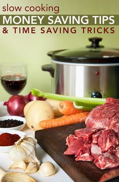 Do you want to save time and money in the kitchen? Check out these Slow Cooking Money Saving Tips & Time Saving Tricks!