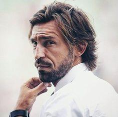 Guy Haircuts Long, Older Mens Hairstyles, Hair And Beard Styles, Long Hair Styles, Andrea Pirlo, Italian Men, Thing 1, Long Hair Cuts, Interesting Faces