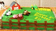 Farm birthday cake by Jill Joyner