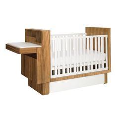 Studio Crib with Changing Table + Storage