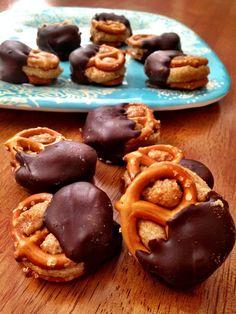 chocolate covered peanut butter pretzel bites
