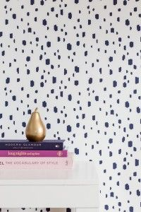 Polka doted wall paper is all the rage right now and we are fully embracing it!