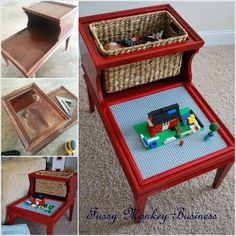 DIY Lego Table from Old Furniture